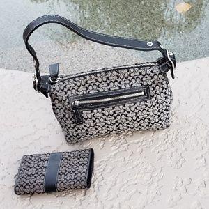 2 x Coach EUC signature bag and wallet